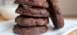 Galletas con chocolate y cacahuetes
